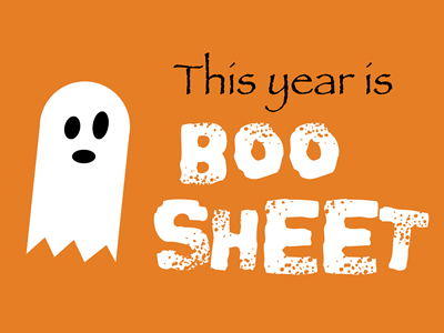 Boo Sheet - Lawn Sign