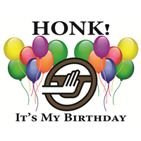 Honk - Happy B-Day Sign