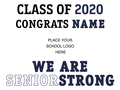 "DESIGN TEMPLATE - ""Congrats Grad Sign"" Lawn Signs"
