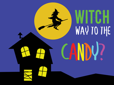 Witch Way - Lawn Sign