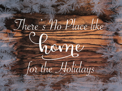 Home for the Holidays - Lawn Sign